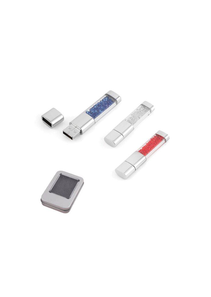 8 GB Metal Kristal Taşlı USB Bellek